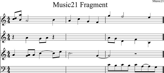 Music21 Fragment
