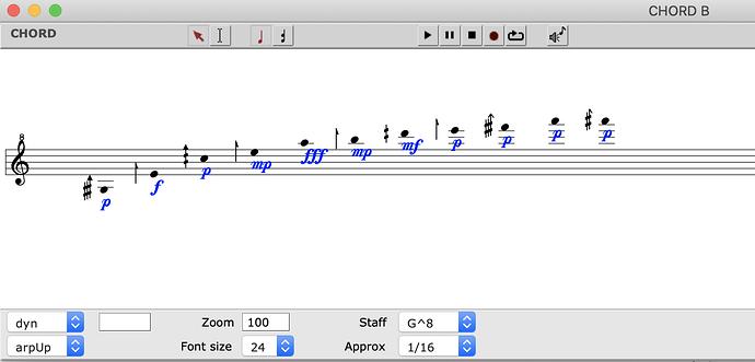 chord B