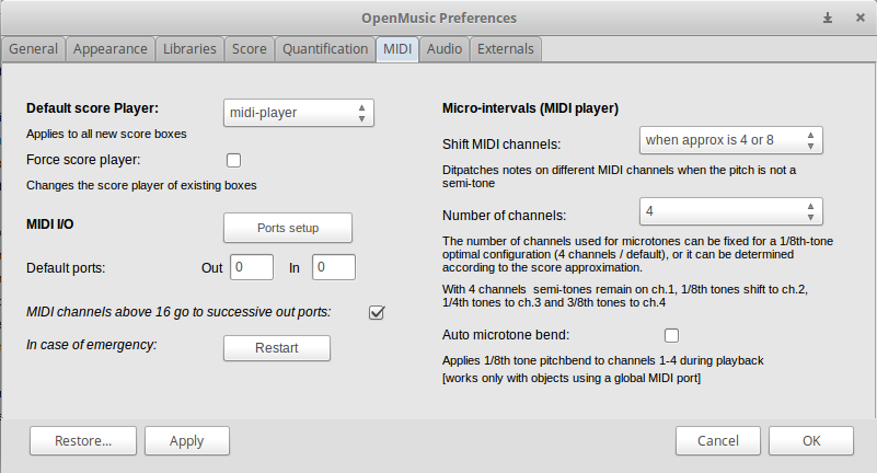 OM Score Player Setup on Linux - OpenMusic - Ircam Forum